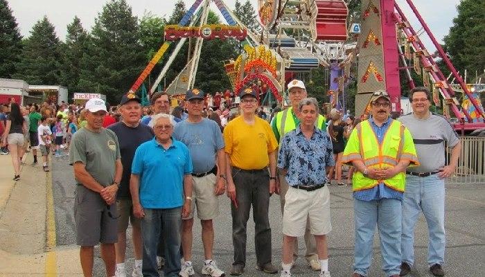 Volunteers at parish carnival