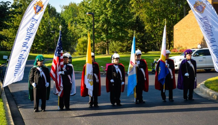 KofC Color Guard at 2017 Nun Run 5K